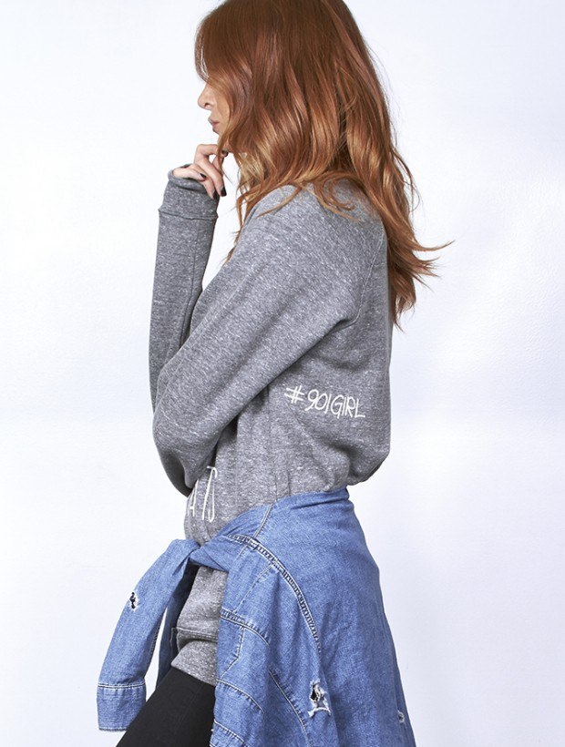 Embrace Messy Hair and Sweatpants - Grey